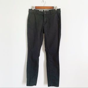 Mossimo Mid Rise Skinny Black Khaki Chino Pants